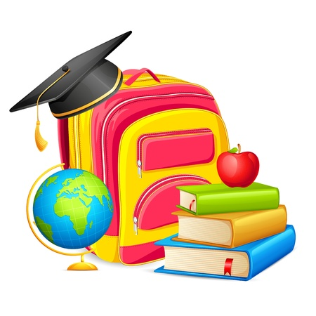 Education Book and Bag Stock Vector - 17604426