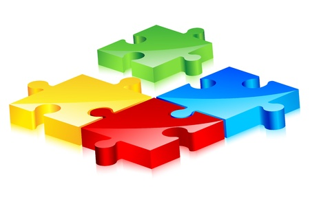 incomplete: Colorful Jigsaw Puzzle Illustration
