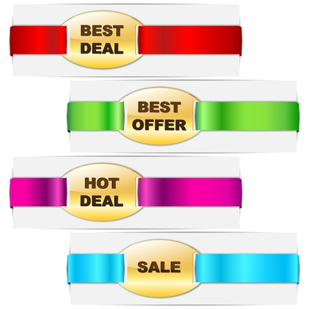 Ribbon Tag for Promotion Stock Vector - 17604420