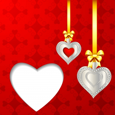 marriage invitation: Hanging Heart
