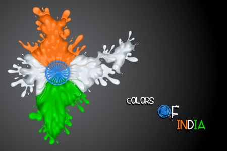 Splashy Indian Flag Vector