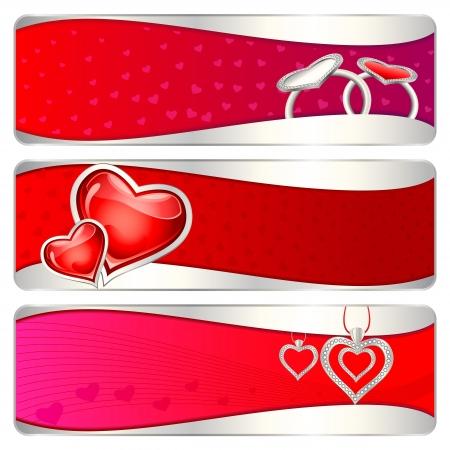 enamoured: Love Banner Illustration