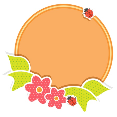 Floral Frame Stock Vector - 17604396