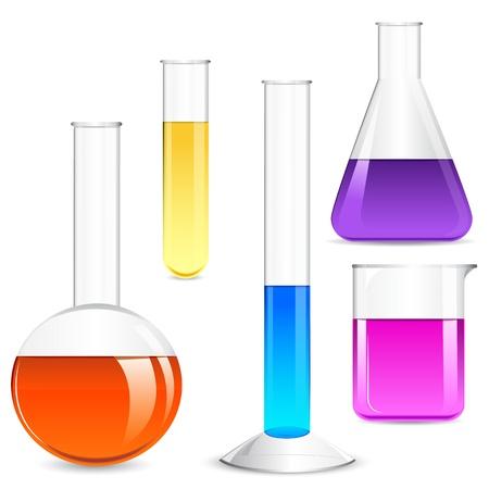 Szkło laboratoryjne Ilustracje wektorowe