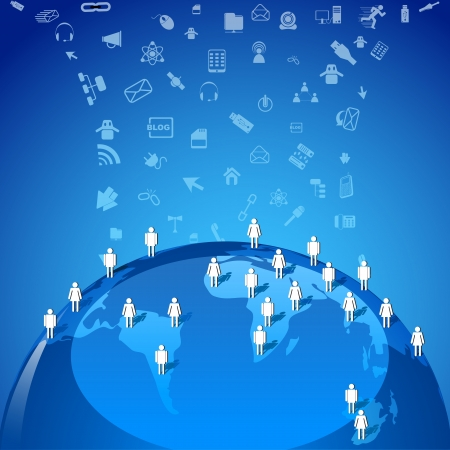 global networking: Red Global Vectores