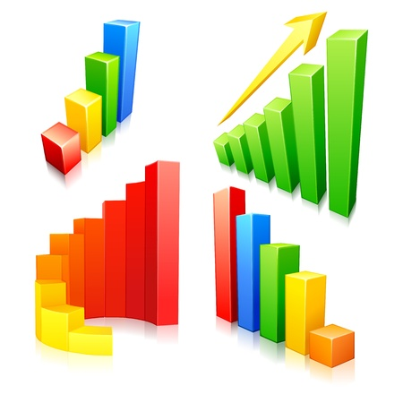 Colorful Bar Graph Stock Vector - 17604397