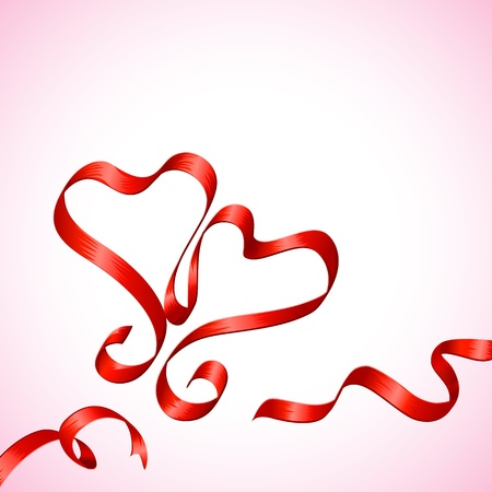 Pair of Ribbon Heart Stock Vector - 17604391