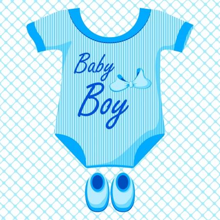 garment: Baby Boy Dress Illustration