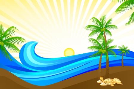 Sea Wave Stock Vector - 18028363