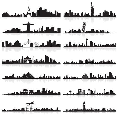 Skyline della città famosa