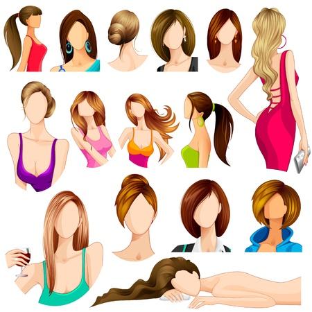 cabello largo y hermoso: Estilo de cabello en la mujer