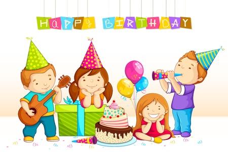 Kids feiern Geburtstag
