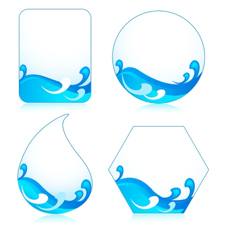 Template with Wave Stock Vector - 18174606