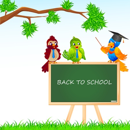 Bird Student and Teacher Stock Vector - 18212729