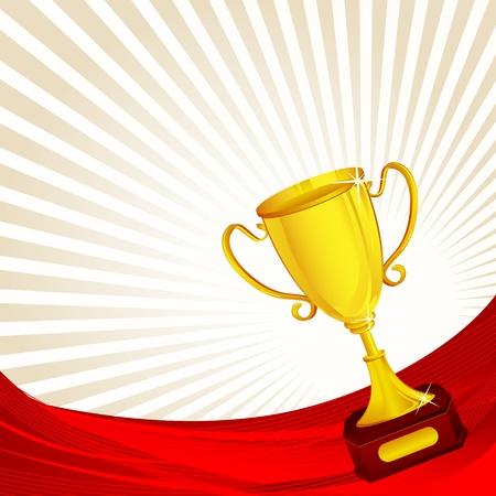 award trophy: Gold Trophy Illustration