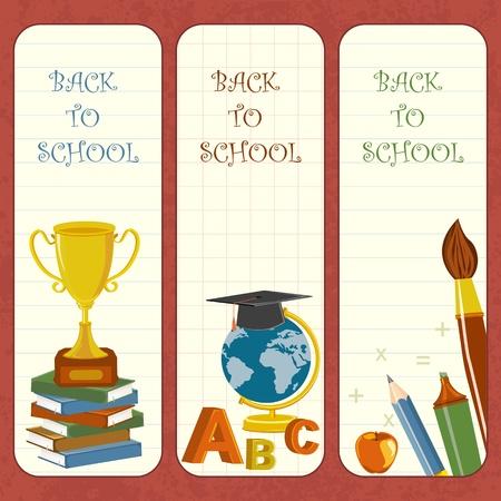 marcadores de libros: Escuela de plantilla