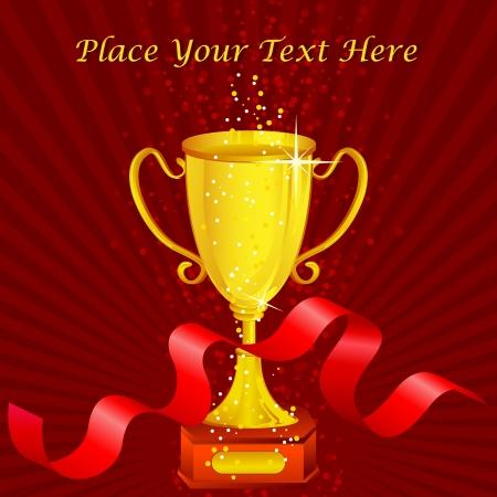 1 place: Trofeo de oro con la cinta