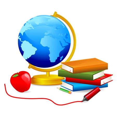 Globe with Book Stock Vector - 18212638