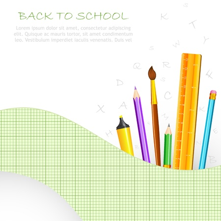 School Stationery Stock Vector - 18212723