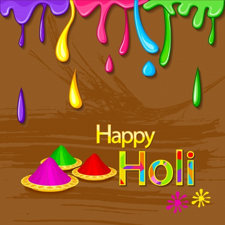thali: Holi Celebration Stock Photo