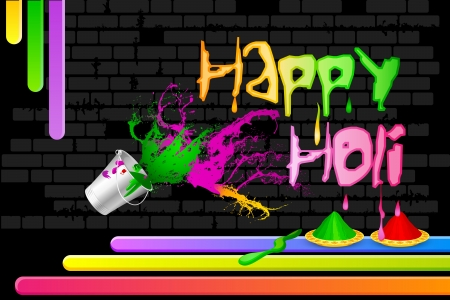 thali: Holi Celebration Illustration
