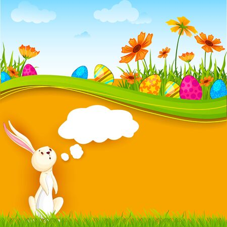 Bunny with Easter Egg Stock Vector - 18290705