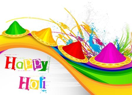 happy holi: Holi Celebration Illustration