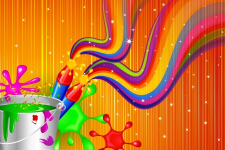 Holi Celebration Design Vector