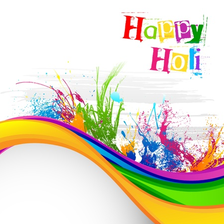 happy holi: Holi Festival Background Design