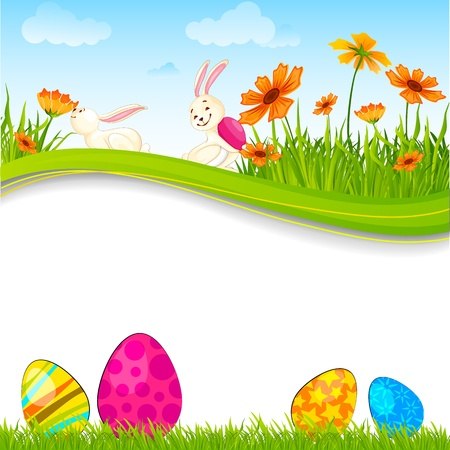 fun grass: Bunny with Easter Egg
