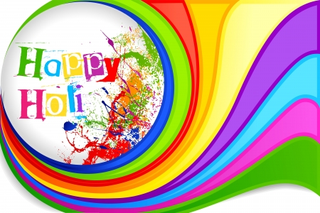 Holi Festival Background Design Stock Vector - 18291990