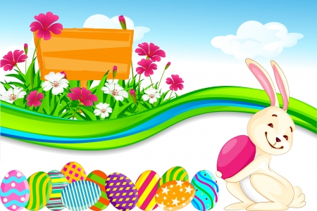 Bunny with Easter Egg Stock Vector - 18291989