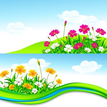 Flower Garden Stock Vector - 18414118