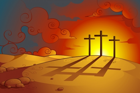 Jesus Christs Crucifixion Vector