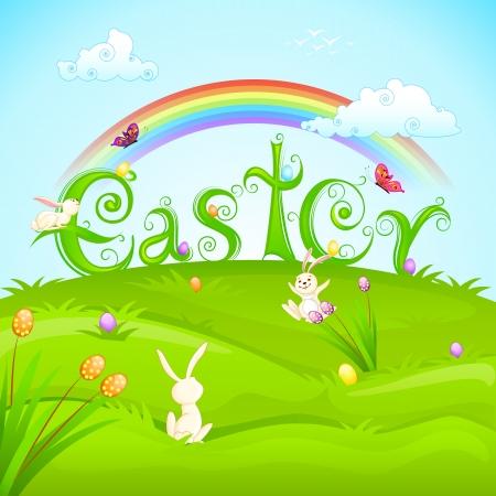 Easter Bunnies Stock Vector - 18414110