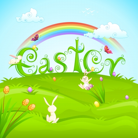 Easter Bunnies Stock Vector - 18414110