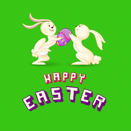 Easter Bunny presenting Colorful Egg Stock Photo - 18414112