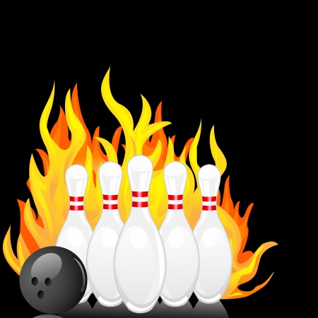 ten pin bowling: Bowling Pin Illustration