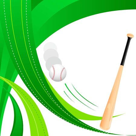 Baseball Bat and Ball Stock Vector - 18414099