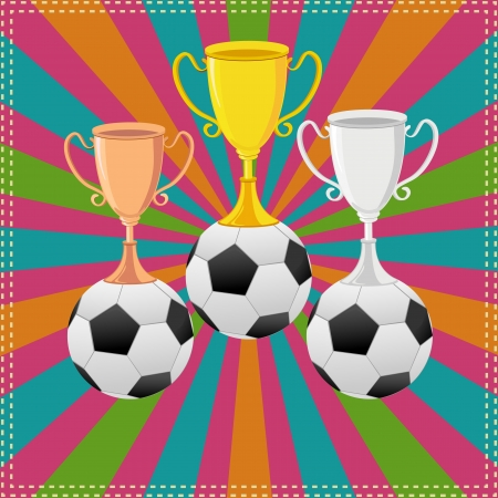 Soccer Ball on Trophy Stock Vector - 18414100
