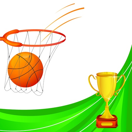 Basketball with Trophy Stock Vector - 18414097