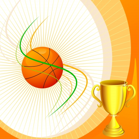Basketball with Trophy Stock Vector - 18414124