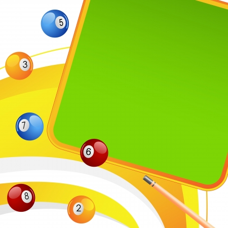 Colorful Snooker Ball Vector