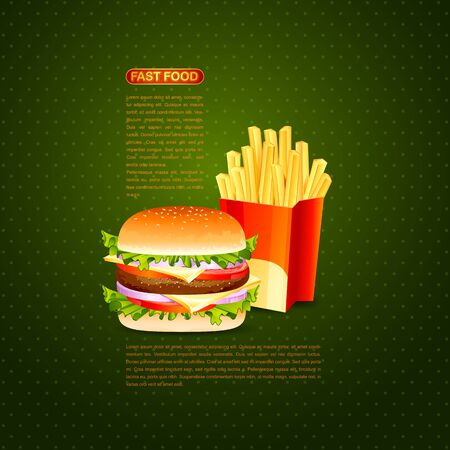 Burger and French Fries Stock Photo - 18519462