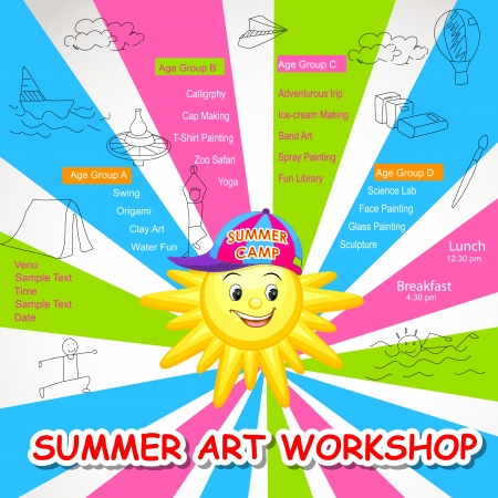 Summer Art Workshop Vector