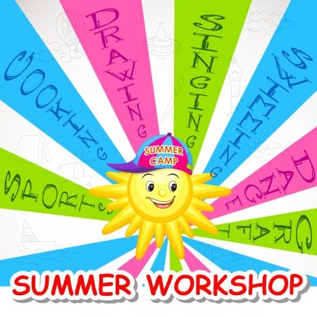 campamento de verano: Taller de Arte de Verano Vectores