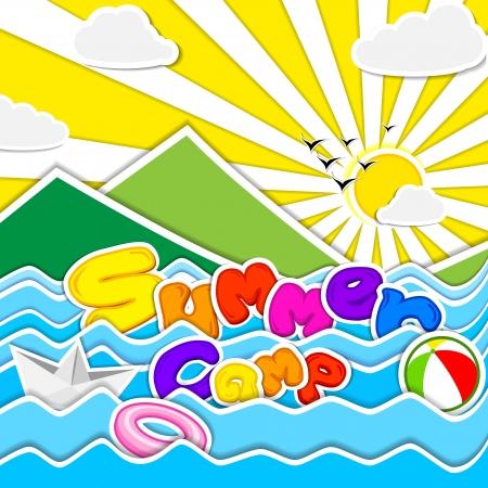 acampar: Campamento de verano impresiones