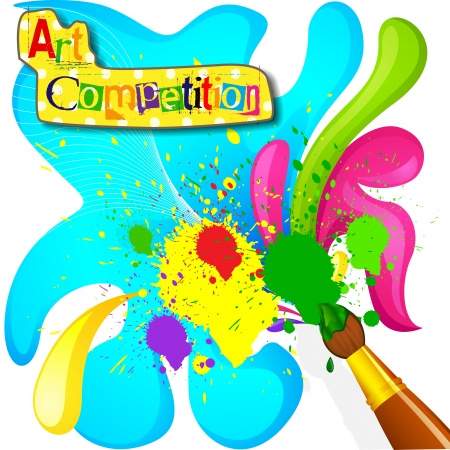 painting brush: Art and Painting Competition Poster