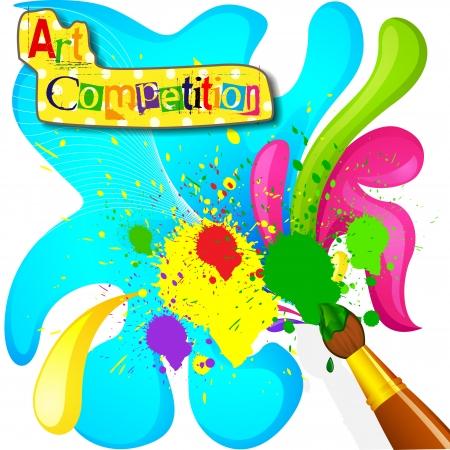 art and craft equipment: Arte y Pintura Concurso de carteles