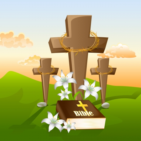 bible flower: Jesus Christs Crucifixion